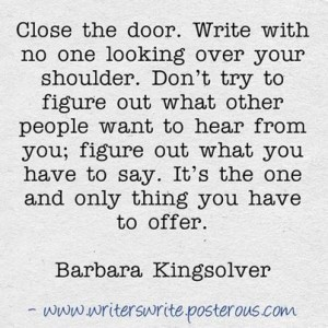 Writing Advice: Close the Door