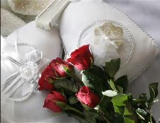 Roses on a pillow